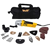 Wolf Oscillating Combo Multi Tool with Variable Speed Control Complete with Accessories All Supplied in Heavy Duty Tool Bag & with Dust Extraction - It Cuts, It Saws, It Scrapes, It Sands and More Multifunctional - 2 YEAR WARRANTY