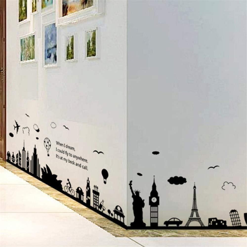 Adesivi murali Adesivo parete moderna città paesaggio Wall ...