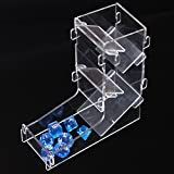 LZWIN Creative Protable Transparent Mini Prism Board Game Dice Rolling Tower Dice Boot for DND MTG