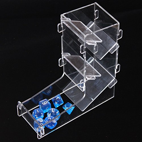 LZWIN Creative Protable Transparent Mini Prism Board Game Dice Rolling Tower Dice Boot for DND MTG by LZWIN
