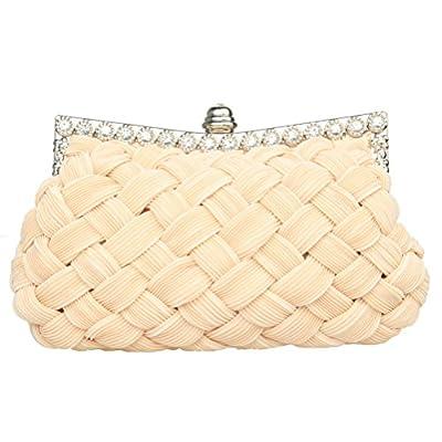 Garden Promo Bridal Bridesmaid Wallet Womens Handbag Wedding Evening Braided Rhinestone Purse Clutch