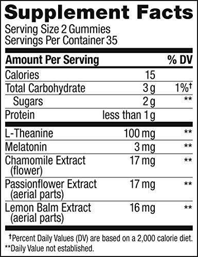 OLLY Restful Sleep Melatonin Gummy, 35 Day Supply (70 Gummies), BlackBerry Zen, L Theanine, Chamomile, Lemon Balm, Chewable Supplement by Olly (Image #4)