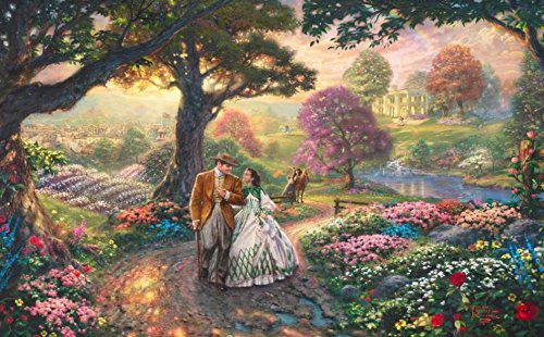 Thomas Kinkade WB Movie Classics Gone with the Wind 1000 Piece Puzzle (Thomas Kinkade Paintings Gone With The Wind)