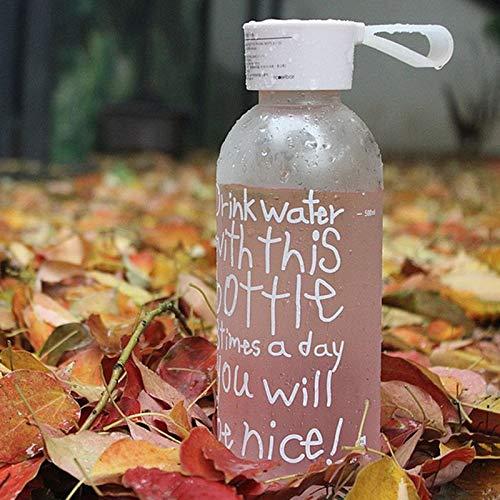 BianchiPatricia 560ML Breakproof Glass Water Bottle Travel Drinking Water Bottle Drinkware