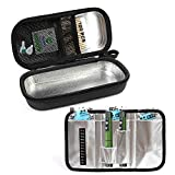 CoreLife Insulin Cooler Travel Case, Diabetic Medication Holder Bag and Organizer Kit with 3 Ice Packs and Insulated Liner Cool Longer - Black