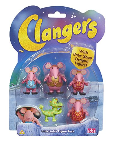 Clangers Collectible Figure Pack with Soup Dragon Figure