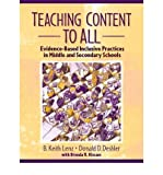 img - for Teaching Content to All: Evidence-Based Inclusive Practices in Middle and Secondary Schools (Paperback) - Common book / textbook / text book