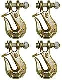 BA Products G8-200-38, Set of 4, 3/8'' Grade 80 Twist Lock Grab Hook
