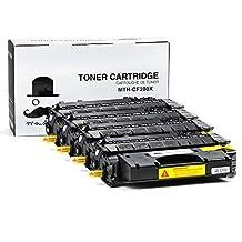 4 Pack Moustache ® HP 80X CF280X Premium Quality (HP80A 80A CF280A High Yield 6900 Pages) HP80X New Compatible Balck BK Toner Cartridge For HP LaserJet Pro 400 (M401dn / M401dne / M401dw / M401n / M425dn), Pro M403dn, Pro M403n