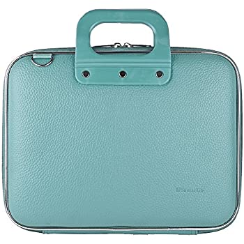 """Aqua Blue Shoulder Bag Briefcase for DBPower 9.5-Inch 10.5""""Portable DVD Player with Rechargeable Battery, SD Card Slot and USB Port"""