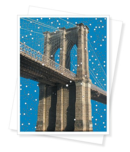 Brooklyn Bridge New York City Holiday Christmas Cards, Set of 10 Greeting Cards