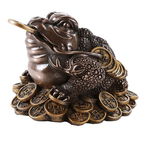 Pacific Giftware Feng Shui Chan Chu Bronze Money Frog Coin Toad Prosperity Home Decoration Gift ()