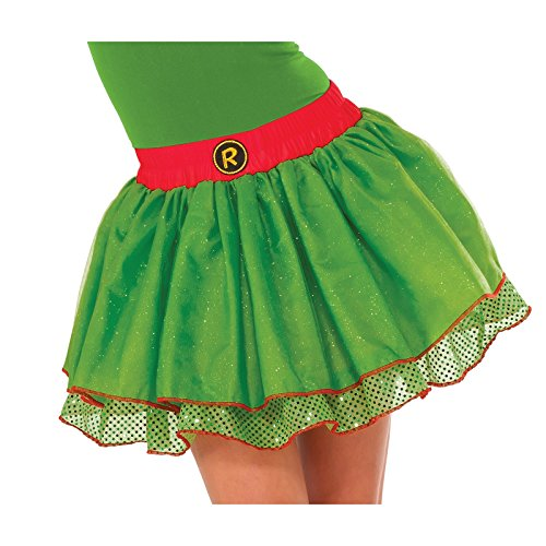 Women's Teenage Mutant Ninja Turtles Raphael Sequin Tutu Skirt Costume Accessory (One Size Adult- Up to Size 12)