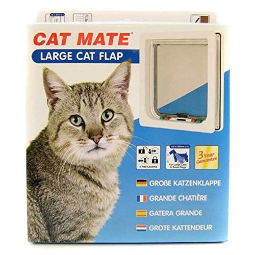 Ani Mate Cat Mate Large Cat Door, White