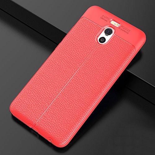 Meizu M6 Note Hülle, MSVII® Anti-Shock Weich TPU Silikon Hülle Schutzhülle Case Und Displayschutzfolie für Meizu M6 Note - Rot / RED JY90090