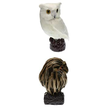 2pcs Deko Schaum Vogel Figur Vögelchen aus Künstliche Feder und Kunststoff