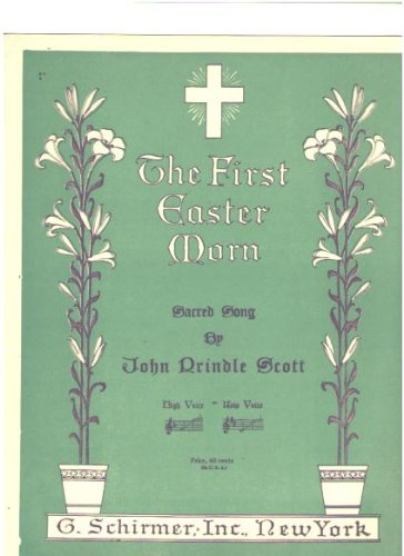The First Easter Morn, Sacred Song (Sheet music)