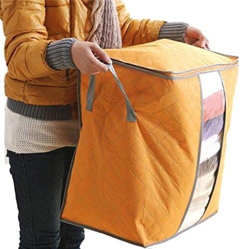 YJYdada Storage Box Portable Organizer Non Woven Underbed Pouch Storage Bag Box (Orange)