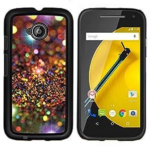Universo Modelo de estrellas de lujo- Metal de aluminio y de plástico duro Caja del teléfono - Negro - Motorola Moto E2 / E(2nd gen)