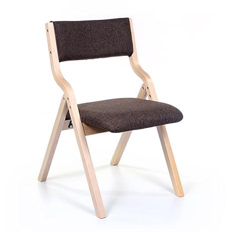 Amazon.com: Silla - Taburete plegable, silla de respaldo de ...