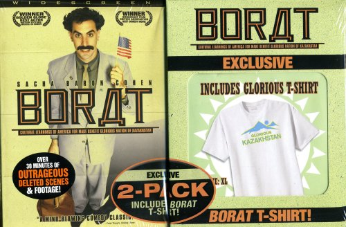 Borat with Glorious Kazakhstan T-shirt - Borat Movie T-shirt