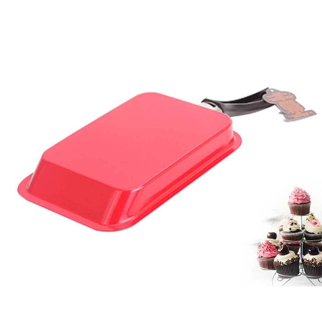 Baoblaze NEW Rectangle Non-stick Frying Pan Induction Saute Broil Bake Cookware - Red by Baoblaze (Image #2)