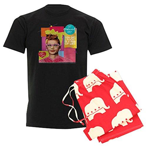 (CafePress I Love Lucy Web of Lies Unisex Novelty Cotton Pajama Set, Comfortable PJ Sleepwear )