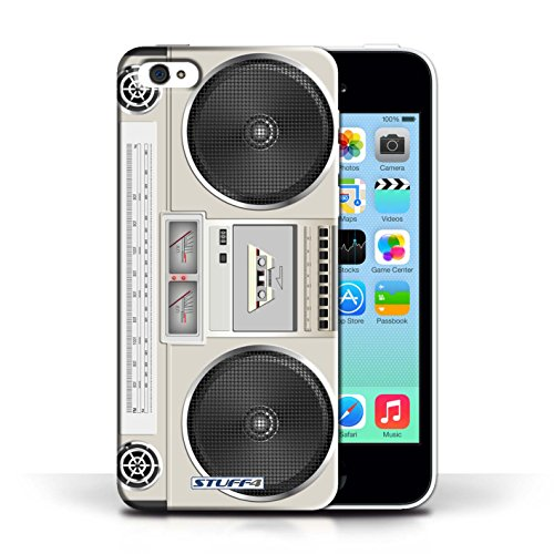 KOBALT® Hülle Case für Apple iPhone 5C | Boombox Entwurf | Retro Techik Kollektion