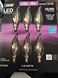Feit Dimmable LED Clear Chandelier Soft White 6-Pack (40W Replacement) 3.8W