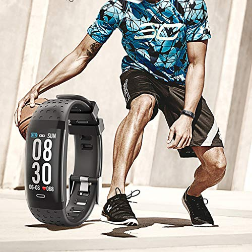 Kariwell Smart Sport Bracelet Look Smart Watch Blood Pressure/Heart Rate Monitoring Health/Fitness Tracker Kari-93 (Grey)