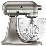 KitchenAid 5-Quart Tilt Head Model Series Stand Mixer With Glass Bowl Silver Contour Deluxe Model