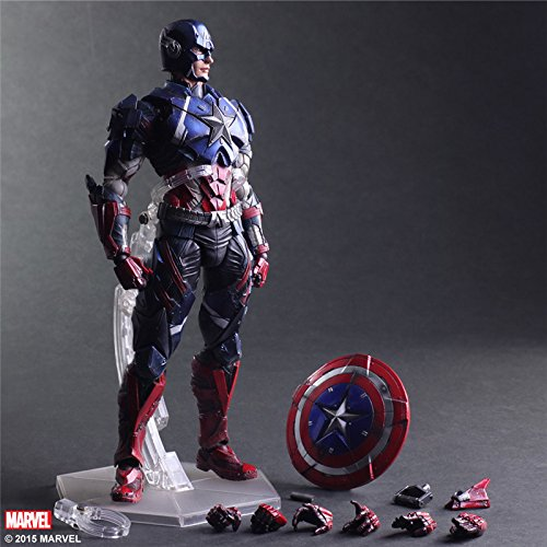PLAY ARTS KAI Heros Captain America The First Avenger Superhero Juguetes PVC Action Figure Collectible Model Doll Kids Toys