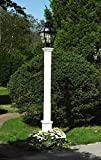 8.6' Handcrafted White Cedar Outdoor Yard and Patio Lantern Post with Boxed Base
