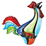 Badash - Murano Style Art Glass Super Rooster h16''