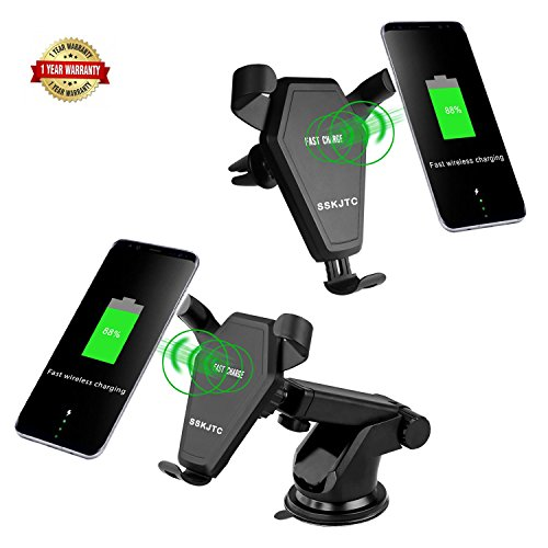 Cheap Car Chargers Qi Wireless Car Mount Charger,SSKJTC Gravity Linkage Fast Charging for iPhone X,..