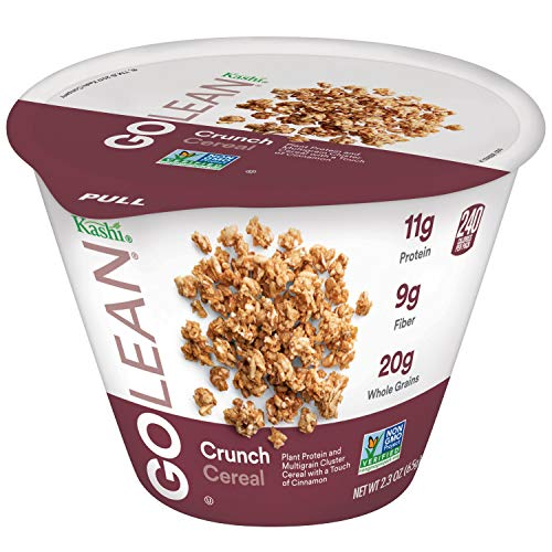 Kashi GOLEAN, Breakfast Cereal in a Cup, Crunch, Non-GMO Project Verified, Bulk Size, 12 Count (Pack of 12, 2.3 oz Cups)