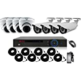 AVSystec 8 Ch HD CVI DVR Security Surveillance System 2TB HHD kit, Records full real time 1080P@30fps iPhone and Android full remote control, 4 Bullet 4 Dome indoor/outdoor cameras 1080P 2.8 - 12mm
