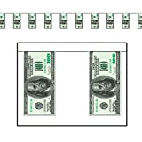 $100 Bill Pennant Banner Party Accessory (Value 3-Pack)