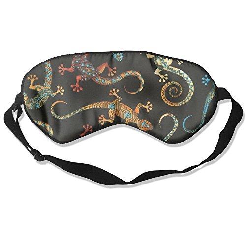 Feathers Batik Unisex Super-smooth Eye Mask Natural Silk Sleeping Mask Soft Blindfold Eyeshade Comfortable Eyepatch With Adjustable Head (Feather Batik)