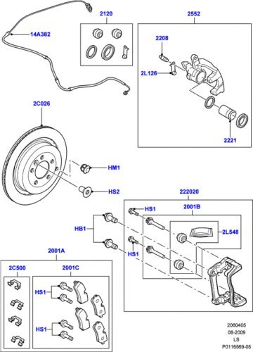 Brake Wear SOE000025 RANGE ROVER SPORT REAR BRAKE PAD WEAR SENSOR ...