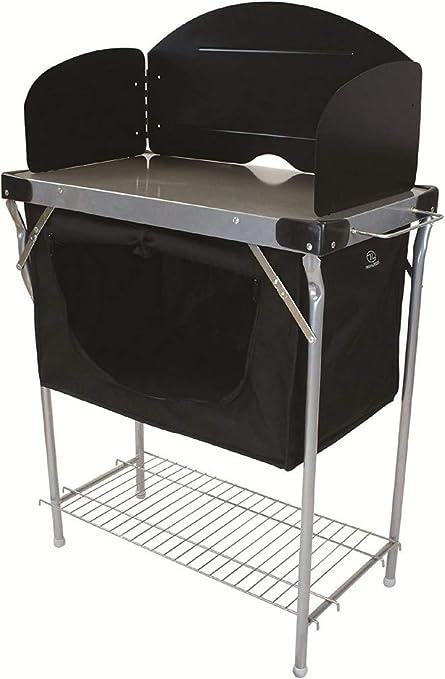 Highlander Cocina de Camping, Aluminio, Negro/Plata, Talla única