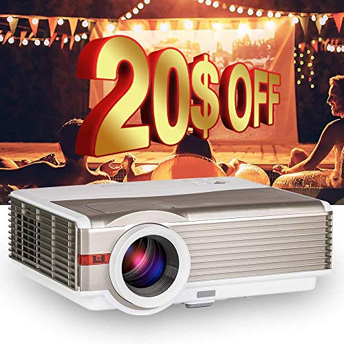"4200Lumens LCD LED Projector 1080P HD Supported 200"" Display Multimedia WXGA Home Theater Projector with HDMI Cable Compatible with Laptop TV Stick Chromecast Roku Xbox Wii Outdoor Movie Proyector"