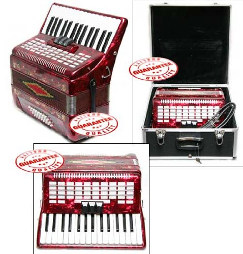 Rossetti Piano Accordion 32 Bass 30 Piano Keys 3 Switches Blue by Rossetti (Image #2)