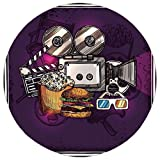 Best Ideal Popcorn Machines - Round Area Rug Mat Rug,Modern Decor,Cartoon like Cinema Review