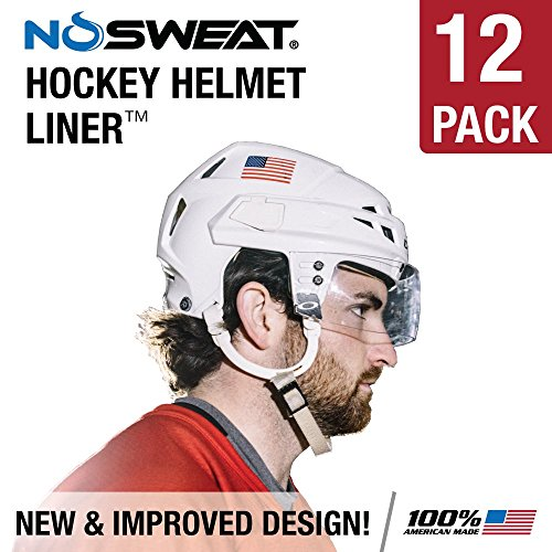 No Sweat Hockey Helmet Liner & Sweat Absorber (Players/Officials) (6 Pack) (Mission Hockey Ice Skates)