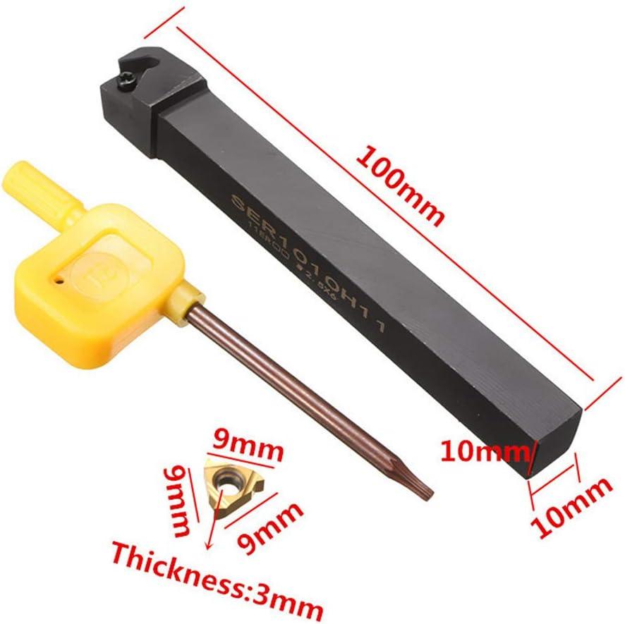 Shiwaki 10mm SER1010H11 Schaftdrehmei/ßelhaltersatz Mit 11ER AG60 Wendeplatten