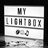 Cinematic lightbox A4 - Black/White - Liberty Lights