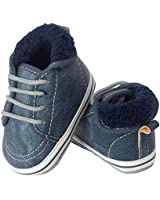 Little Me Dark Grey Boy High-top Sneaker, 9-12...