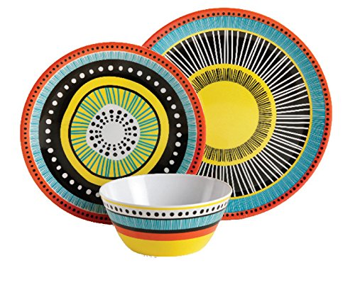 Gibson Home 107282.12 Almira 12 Piece Melamine Dinnerware (Set of 4), Assorted by Gibson Home (Image #2)