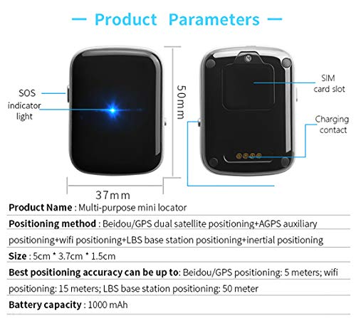 Pet GPS Locator Smart Search Pet Light Pet Tracker Tracker Multifunction Upgrade, Black by PYXZQW Pet tracker (Image #6)